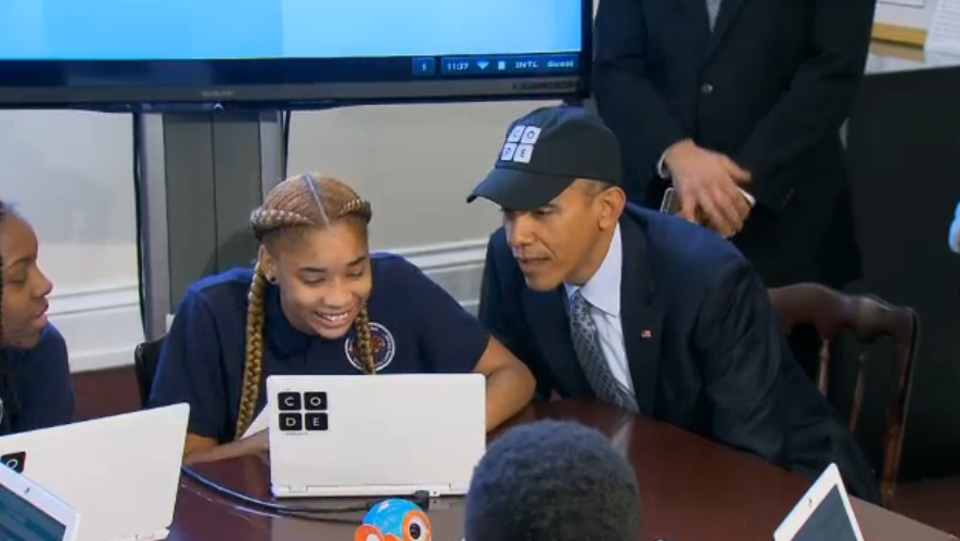 barack obama, [Video] Obama Becomes First US President to Code, PROTECH