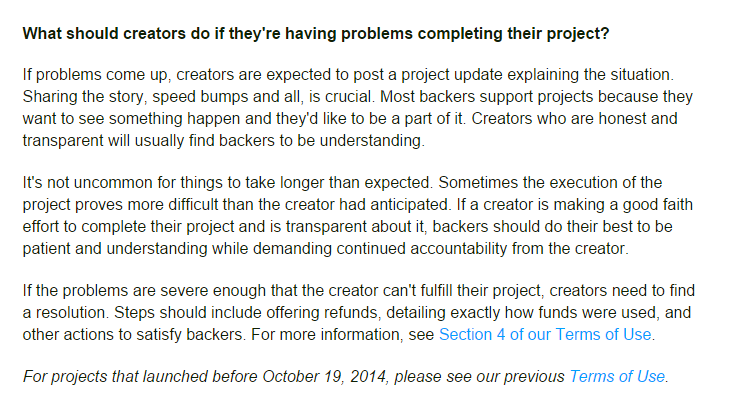 crowdfunding, The Perils of Crowdfunding, PROTECH