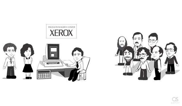 Best moments of Steve Jobs's life: Steve's visit to Xerox PARC with a group of Apple engineers and executives (1979)