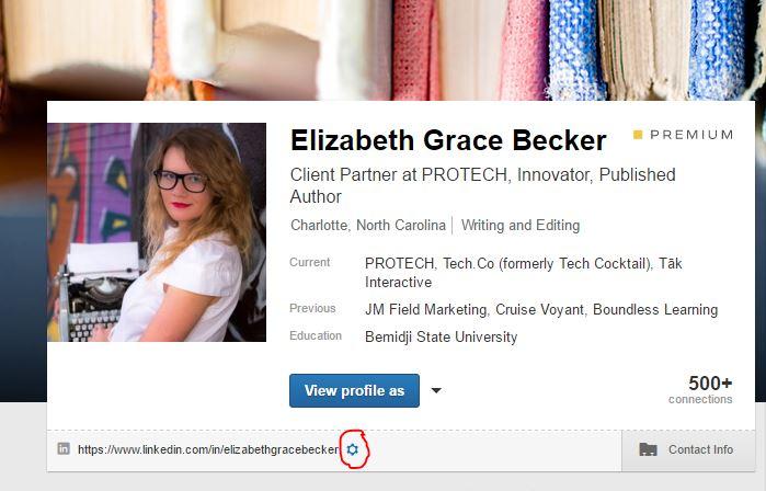 custom linkedin URL, Creating or editing your custom Linkedin URL in three clicks, PROTECH