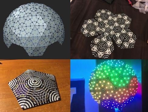 This guy builds and codes his own glowing LED ball and it's awesome