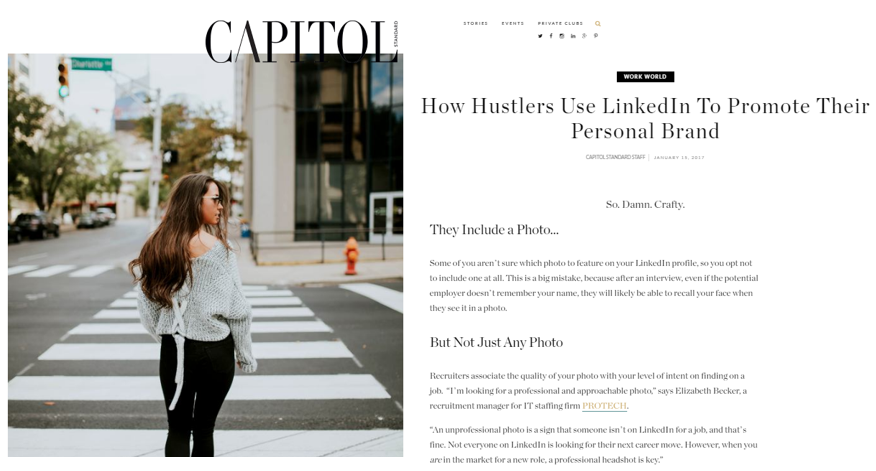 How Hustlers Use LinkedIn To Promote Their Personal Brand – Capital Standard