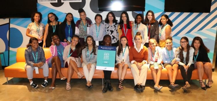 PROTECH CEO, Deborah Vazquez, Shares Career Advice with Columbia Girls in STEM Participants